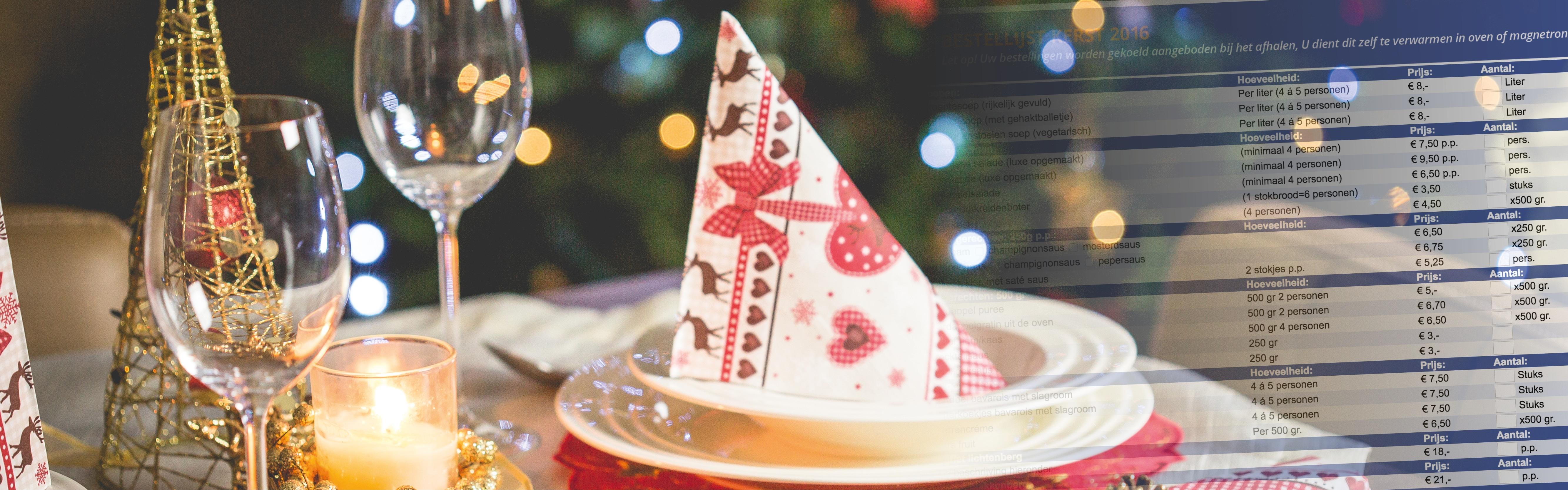 Uw kerst catering bestellen?